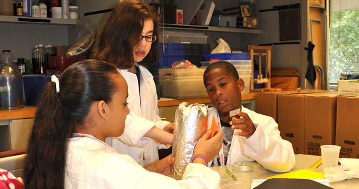 Students in STEM classroom