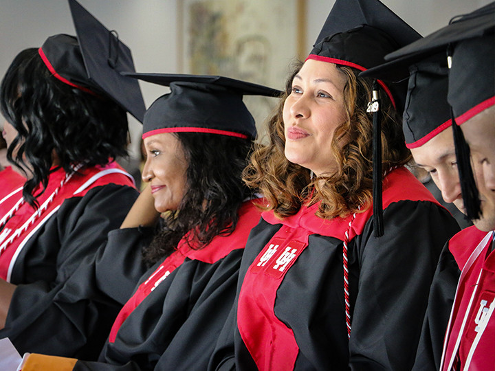 MS in Nursing students at commencement