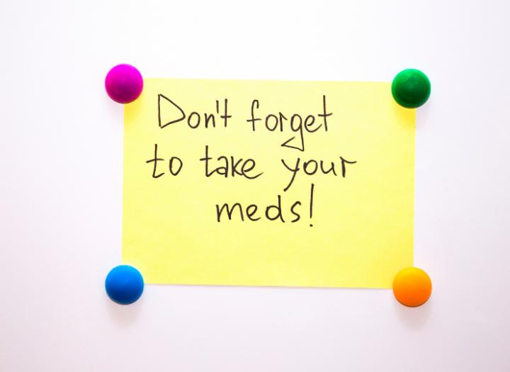 FRIDDAY HEALTH TIP: Don't Forget to Take Your Meds!