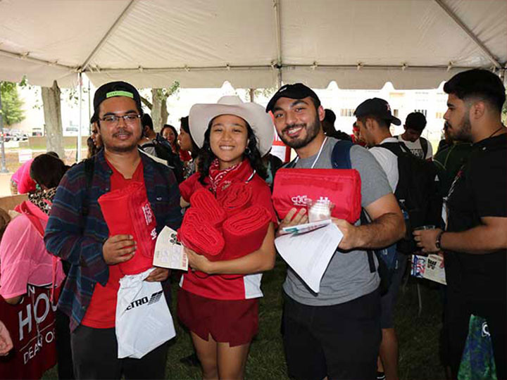 Students with Coog Swag