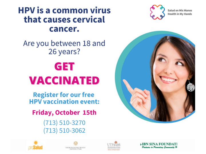 UT Health and Harris County Public Health HPV Vaccination Event