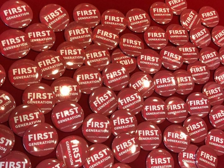 Red UH FirstGen Day buttons