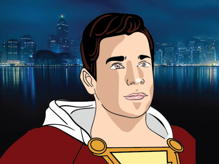 cartoon image of Shazam